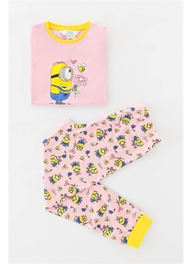 Penti Orchıd Kız Çocuk Lic Minions Ss 2Li Pijama Takımı Mor